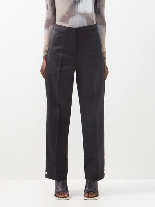 Three Graces London - Ferrers Tie Waist Linen Dress - Womens - Orange