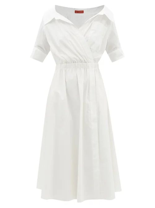 Kalita - Brigitte Silk Habotai Maxi Dress - Womens - Dark Green