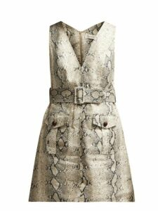 Zimmermann - Corsage Python Print Linen Mini Dress - Womens - Python