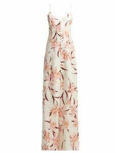 Zimmermann - Corsage Floral-print Linen Dress - Womens - Cream Print