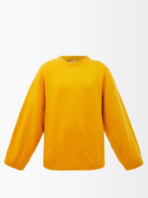Fendi - Mania Logo Oversized Sweater - Womens - White Multi