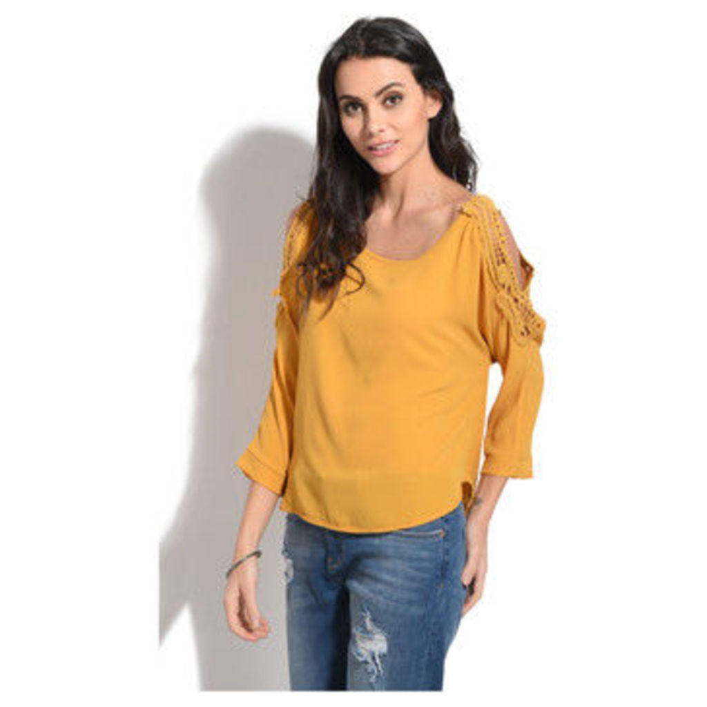 Anabelle  Top  women's Blouse in Yellow