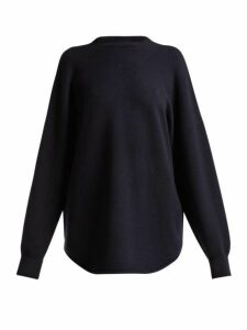 Extreme Cashmere - No. 53 Crew Hop Cashmere Blend Sweater - Womens - Navy