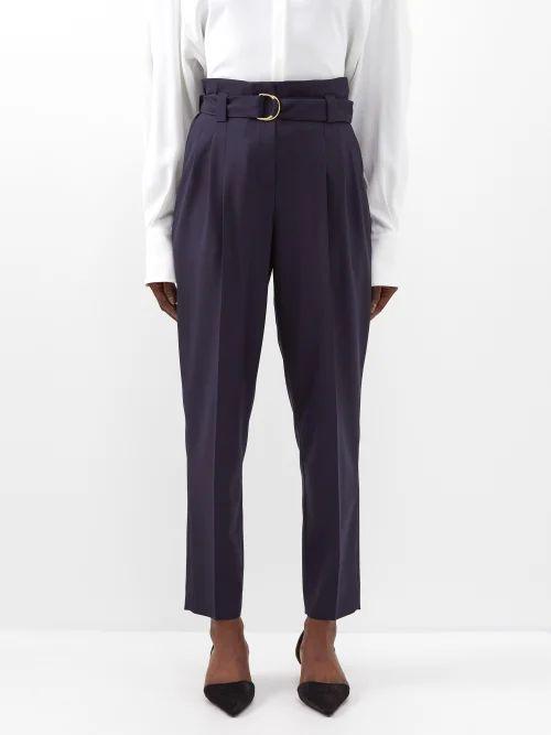 Balenciaga - Logo Printed Oversized Denim Jacket - Womens - Black