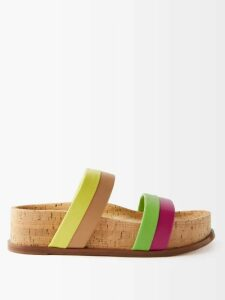 Christopher Kane - Lace Trimmed Satin Midi Skirt - Womens - Black Brown