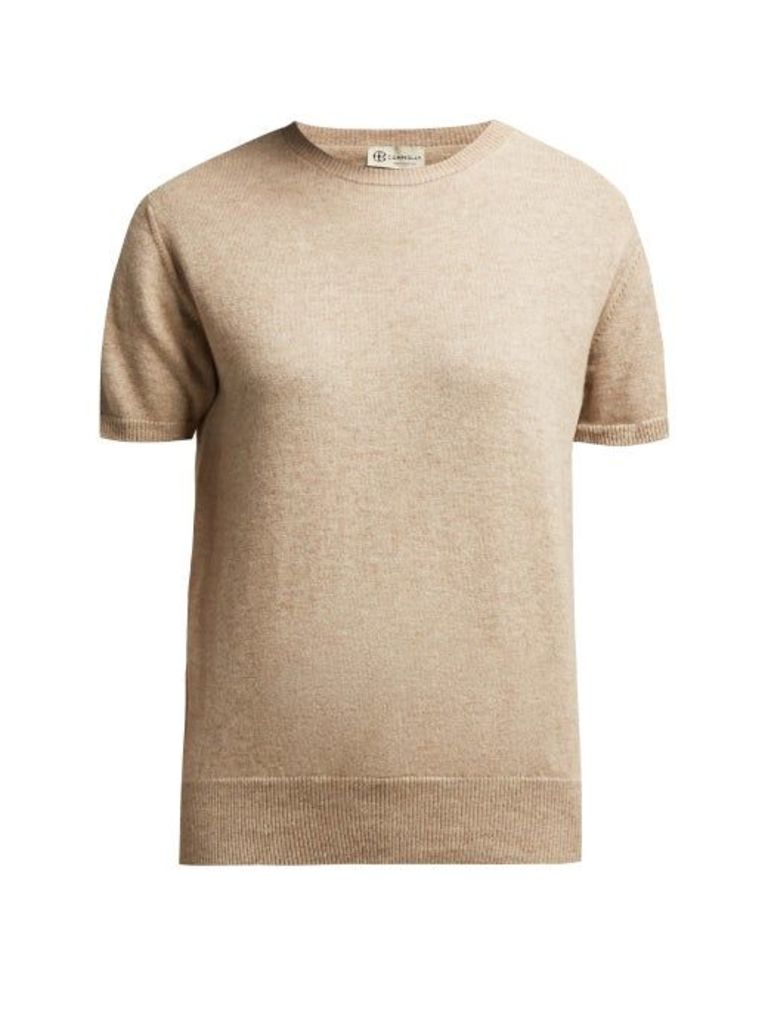 Connolly - Short Sleeved Cashmere Sweater - Womens - Beige