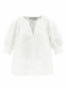 Hillier Bartley - Dropped Shoulders Silk Top - Womens - Silver