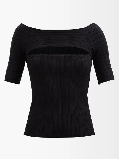 Christopher Kane - Metallic Tulle Midi Dress - Womens - Black Silver