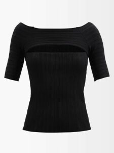 Christopher Kane - Metallic Tulle Midi Dress - Womens - Black Silver