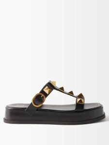 Preen Line - Marin Floral Print Drop Waist Midi Dress - Womens - Black Multi