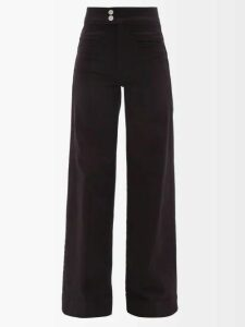Connolly - Checked Wool Blend Skirt - Womens - Green Multi