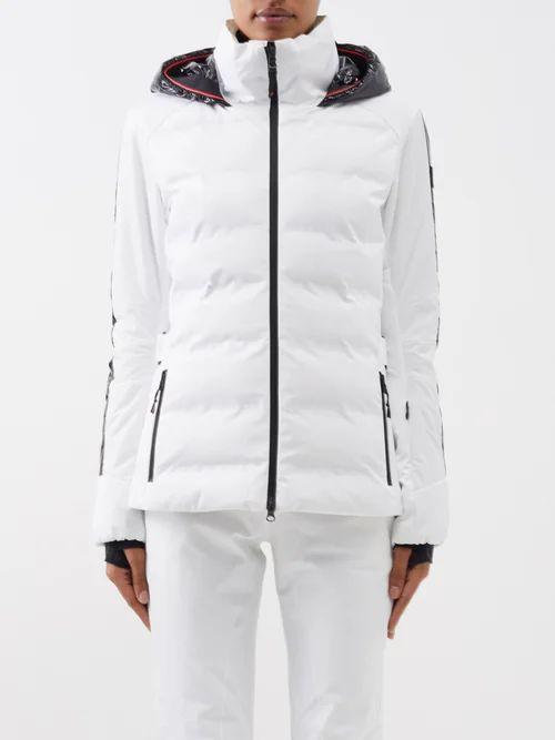 Versace - Baroque Print Silk Twill Shirtdress - Womens - Gold Multi