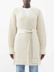 Stella Mccartney - Logo Printed Asymmetric Silk Midi Dress - Womens - Navy