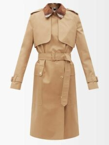Stella Mccartney - Double Breasted Wool Twill Peacoat - Womens - Camel