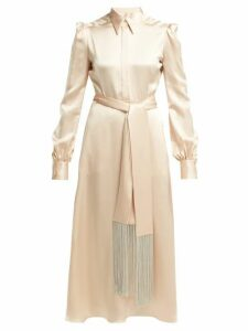 Hillier Bartley - Silk Satin Midi Dress - Womens - Ivory