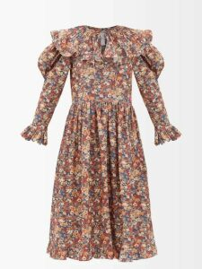 Altuzarra - Paola Vase-print Satin Dress - Womens - Black Multi