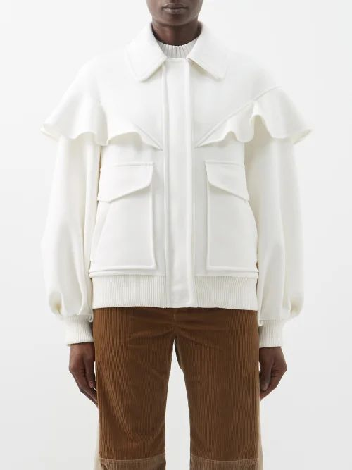 Altuzarra - Mirto Pointelle Knit Wool And Cashmere Blend Top - Womens - Ivory