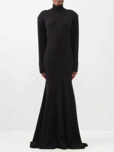 Borgo De Nor - Francesca Floral Print Crepe Dress - Womens - Black Print