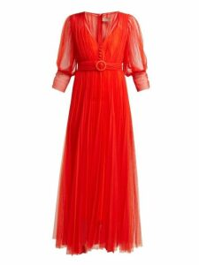 Maria Lucia Hohan - Aminah Belted Tulle Dress - Womens - Red