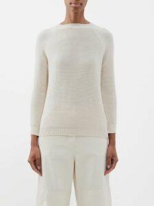 Batsheva - Ruffled Cotton Velvet Midi Dress - Womens - Blue