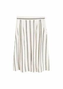 Striped cotton skirt