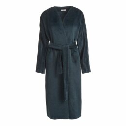 WtR - Chaminade Green Alpaca Blend Wrap Coat