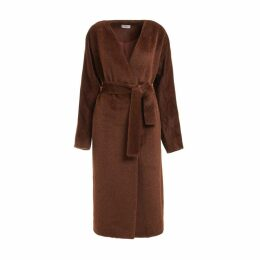WtR - Chaminade Brown Alpaca Blend Wrap Coat