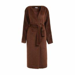 WtR - Chaminade Brown Alpaca Blend Wrap Coat