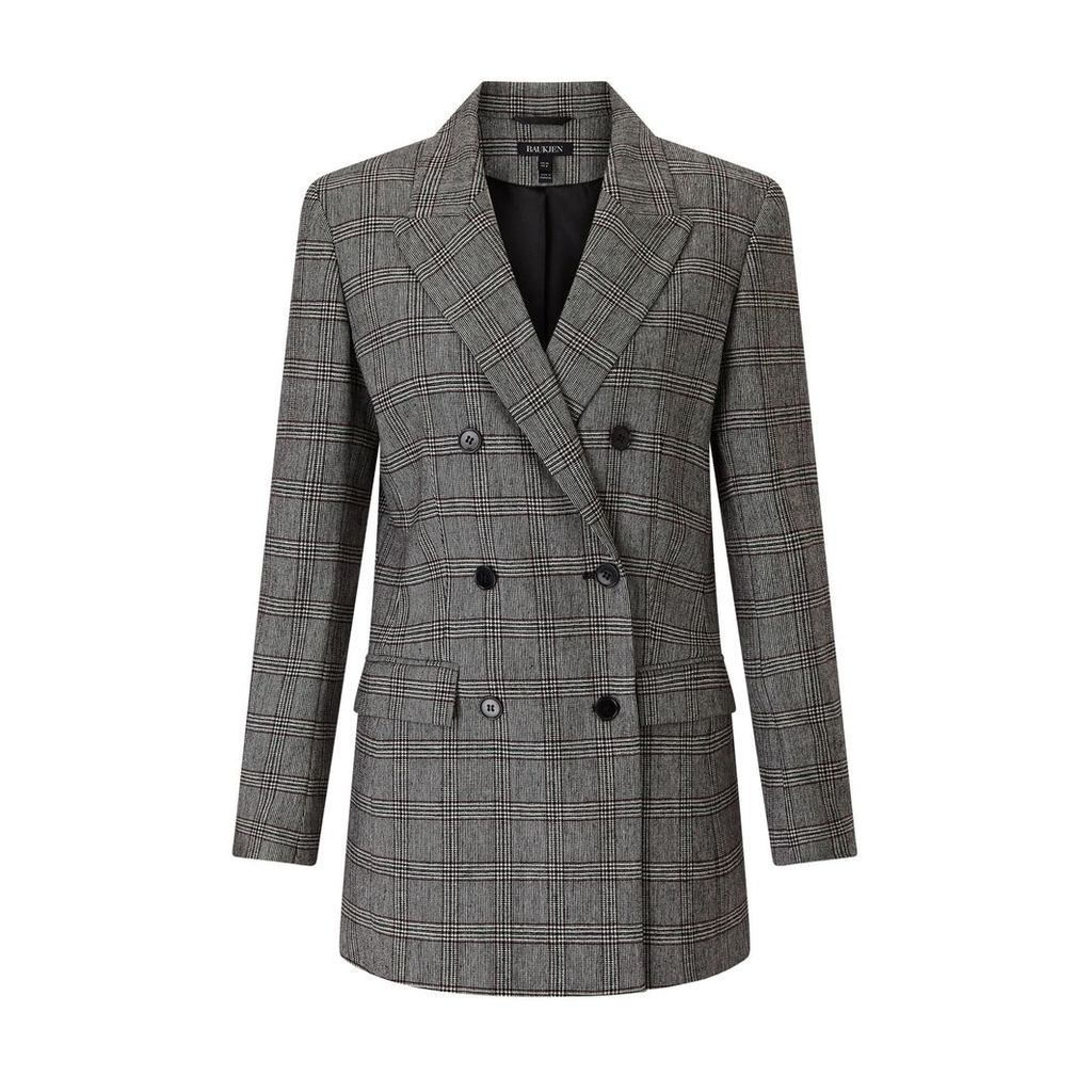 Baukjen - Mallory Blazer In Grey Mix Check