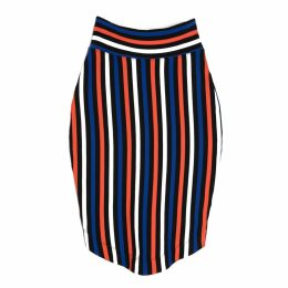 Lobo Mau - Striped Pencil Skirt