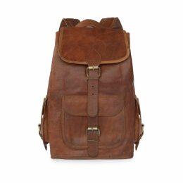 VIDA VIDA - Vida Vintage Classic Leather Backpack - Large