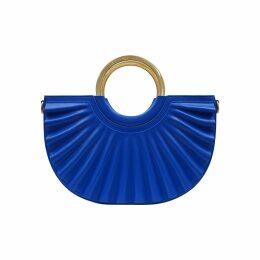 N'Damus London - Black Leather Saddle Bag With Back Pocket