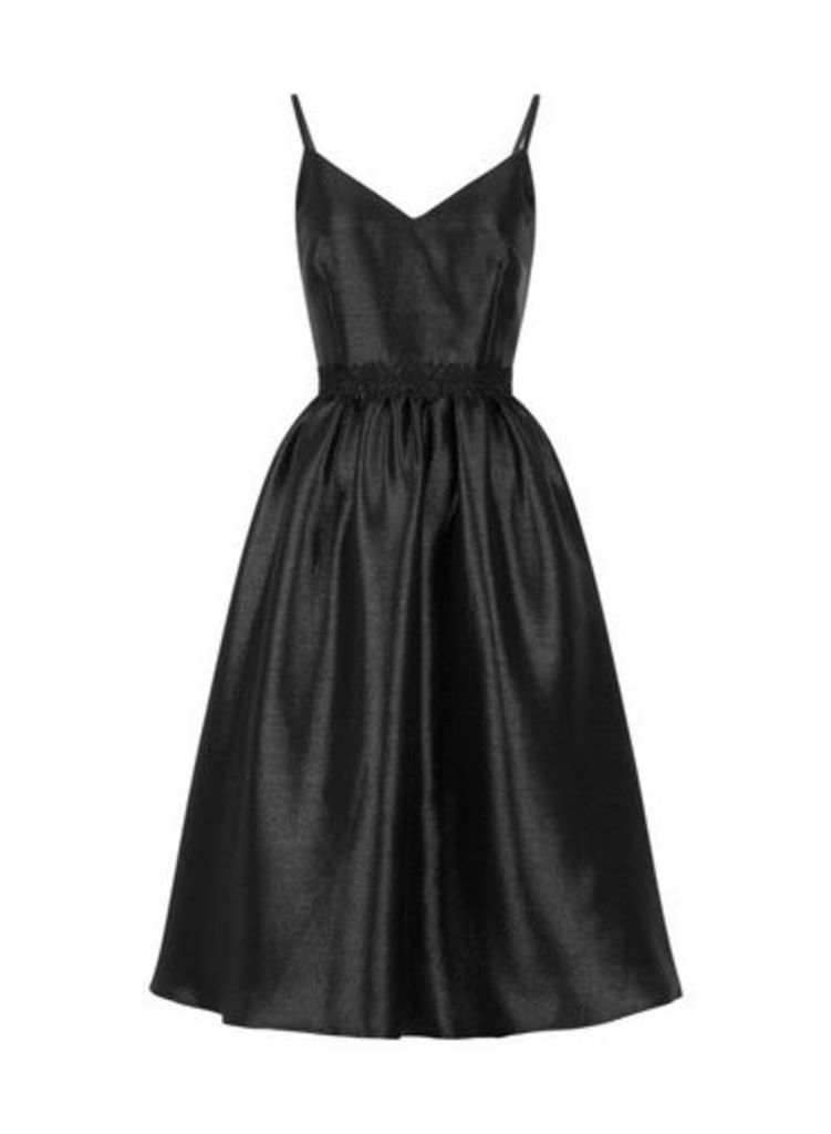 Womens **Little Mistress Black Glitter Prom Dress- Black, Black