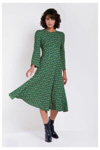 Womens Ghost London Green Printed Sophia Dress -  Green