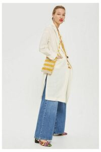 Womens Lightweight Duster Coat - Ivory, Ivory