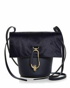 Zac Zac Posen Belay Medium Leather & Calf Hair Crossbody Bucket Bag