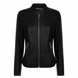 Boss Safura Leather Biker Jacket