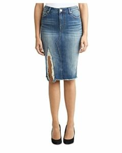 True Religion Torn Denim Skirt