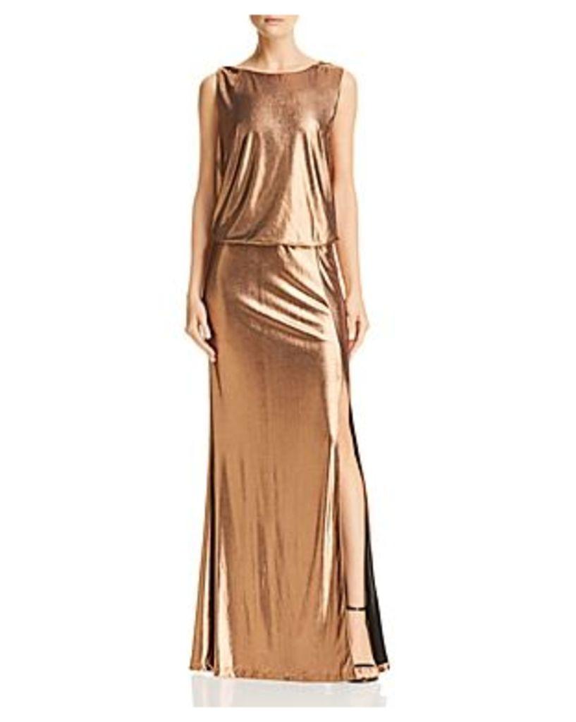 Rachel Zoe Karen Metallic Open-Back Gown - 100% Exclusive