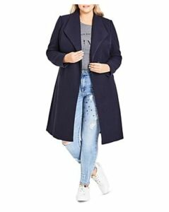City Chic Plus Mid Length Coat