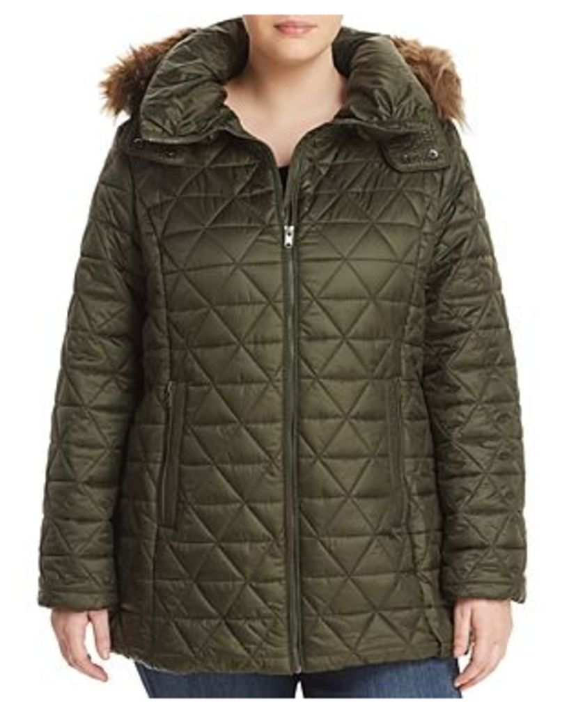 Marc New York Performance Plus Cypress Faux Fur Trim Puffer Coat