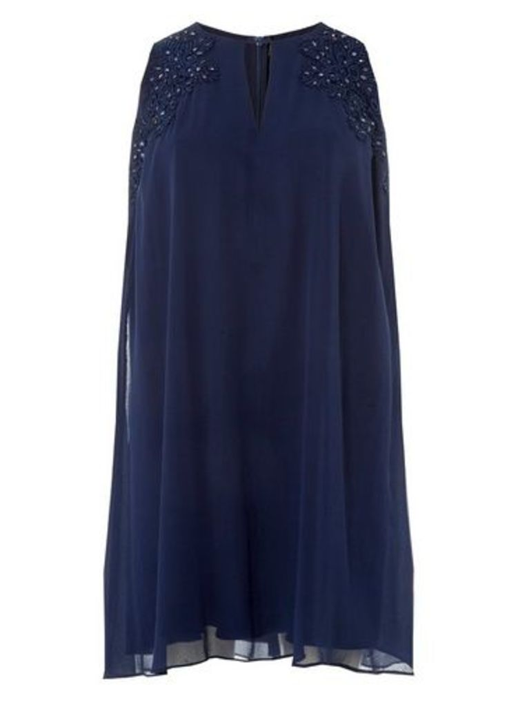 Womens **'Showcase Navy 'Nyla' Trapeze Dress- Blue, Blue