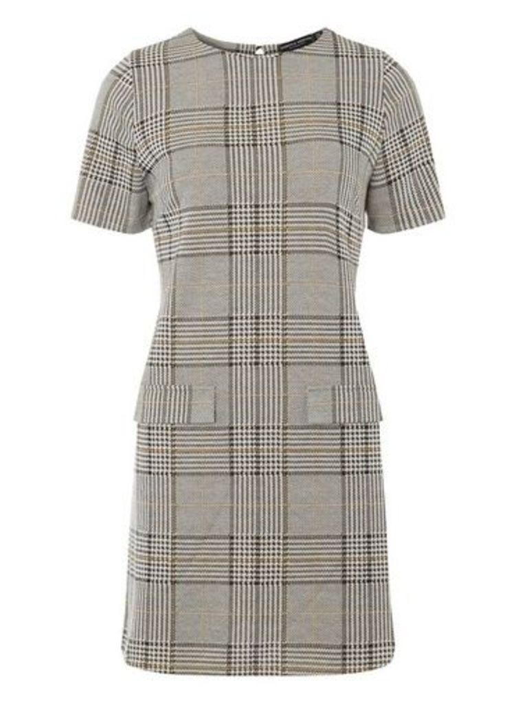 Womens Multi Coloured Camel Check Tunic- White, White