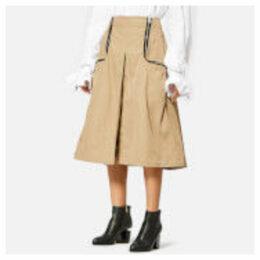 JW Anderson Women's Two Way Zipper Skirt - Cumin - UK 10 - Cream