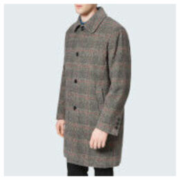 Maison Kitsuné Men's Check Bill Classic Coat - Anthracite Check - S - Grey