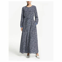 Weekend MaxMara Floral Print Silk Maxi Dress, Ultramarine
