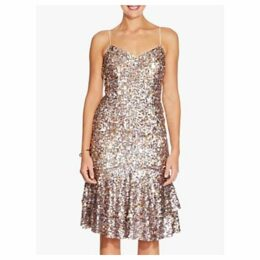 Adrianna Papell Sequin Dress, Pink Multi