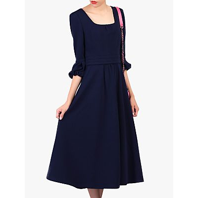 Jolie Moi Bell Sleeve Dress, Navy