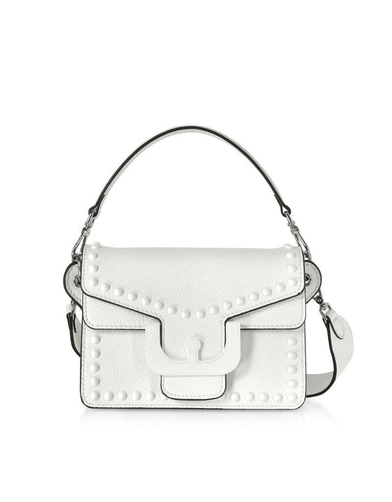 Coccinelle Designer Handbags, Ambrine Graphic Studs Leather Crossbody Bag
