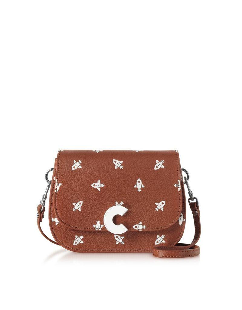 Coccinelle Designer Handbags, Craquante Razzo Printed Leather Small Shoulder Bag